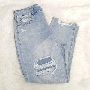 "AEO 14.5"" Super High Rise Curvy Mom Jeans 12"